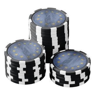Old Vintage Grunge European Union Flag Poker Chips