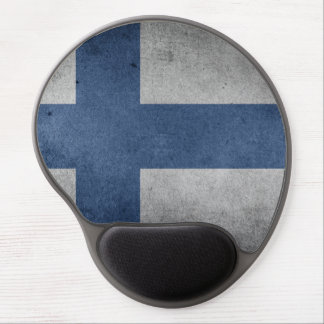 Old Vintage Grunge Finland Flag Gel Mouse Pad