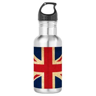 Old Vintage Grunge United Kingdom Flag Union Jack 532 Ml Water Bottle