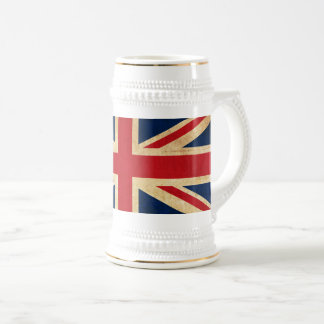 Old Vintage Grunge United Kingdom Flag Union Jack Beer Stein