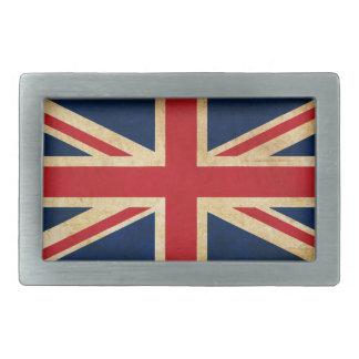 Old Vintage Grunge United Kingdom Flag Union Jack Belt Buckle