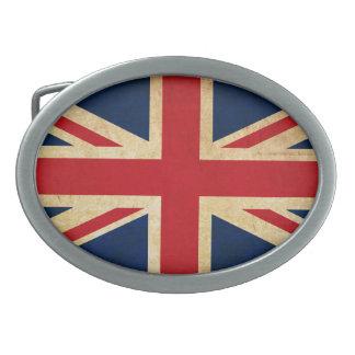 Old Vintage Grunge United Kingdom Flag Union Jack Belt Buckles