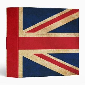 Old Vintage Grunge United Kingdom Flag Union Jack Binders