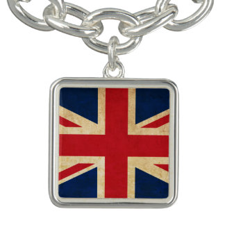 Old Vintage Grunge United Kingdom Flag Union Jack Bracelet