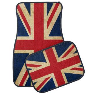 Old Vintage Grunge United Kingdom Flag Union Jack Car Mat