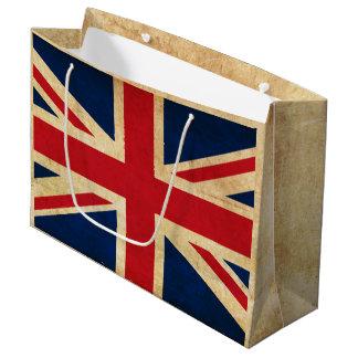 Old Vintage Grunge United Kingdom Flag Union Jack Large Gift Bag