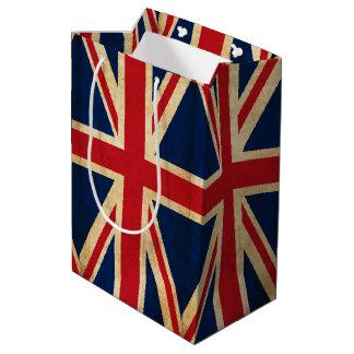 Old Vintage Grunge United Kingdom Flag Union Jack Medium Gift Bag