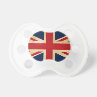 Old Vintage Grunge United Kingdom Flag Union Jack Pacifier
