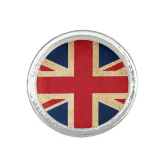 Old Vintage Grunge United Kingdom Flag Union Jack Rings