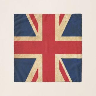 Old Vintage Grunge United Kingdom Flag Union Jack Scarf