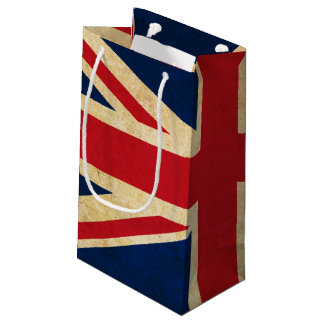 Old Vintage Grunge United Kingdom Flag Union Jack Small Gift Bag