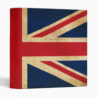 Old Vintage Grunge United Kingdom Flag Union Jack Vinyl Binders