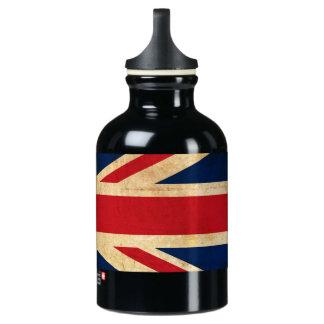 Old Vintage Grunge United Kingdom Flag Union Jack Water Bottle