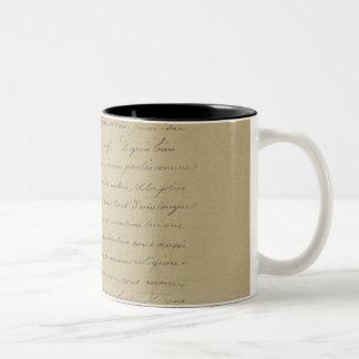 old vintage handwriting coffee mugs