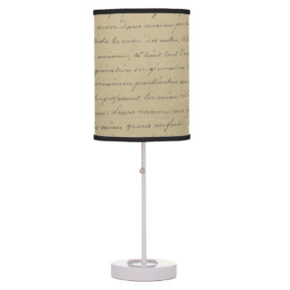 old vintage handwriting lamps