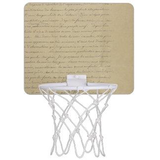 old vintage handwriting mini basketball backboards
