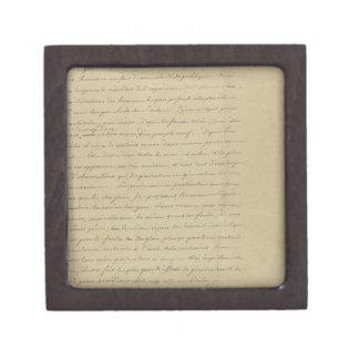 old vintage handwriting premium trinket box
