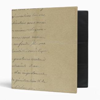 old vintage handwriting vinyl binder