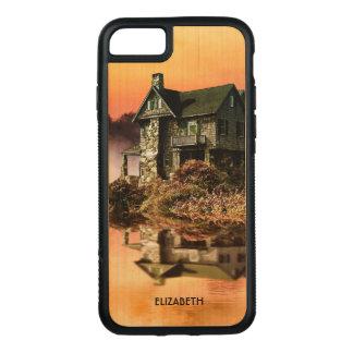 Old Vintage House On Misty Lake At Dusk Carved iPhone 8/7 Case