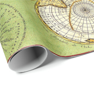 old Vintage map party fun wrapping paper