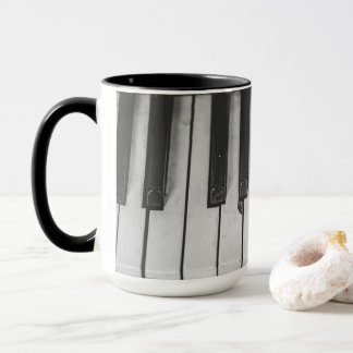 Old Vintage Piano Keys Coffee Mug