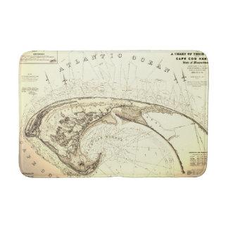 Old Vintage Provincetown Cape Cod Map Bath Mat