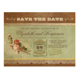 Old vintage save the date tickets - postcards