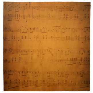 Old vintage sheet music napkin