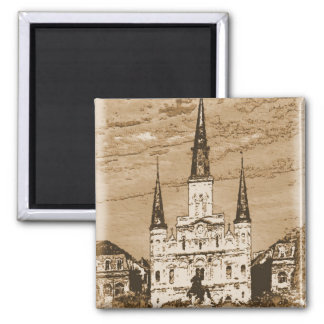 Old Vintage St Louis Cathedral French Quarter New Magnet