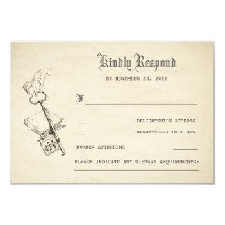 Old Vintage Story Book Wedding RSVP Card