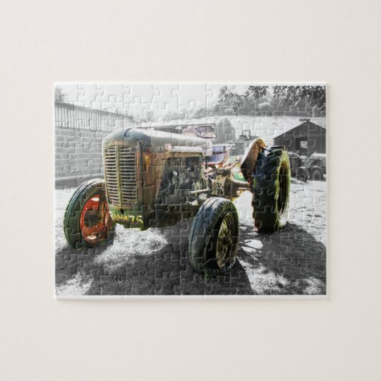 Old Vintage Tractor farm machinery Jigsaw Puzzle