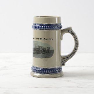 Old Vintage Tractor Plowing- Stein Mug