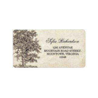old vintage tree address labels