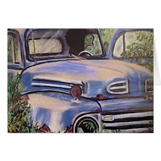 Old Vintage Truck Art Card