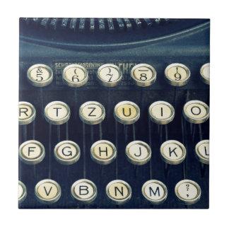 Old Vintage Typewriter Keyboard Keys Tile