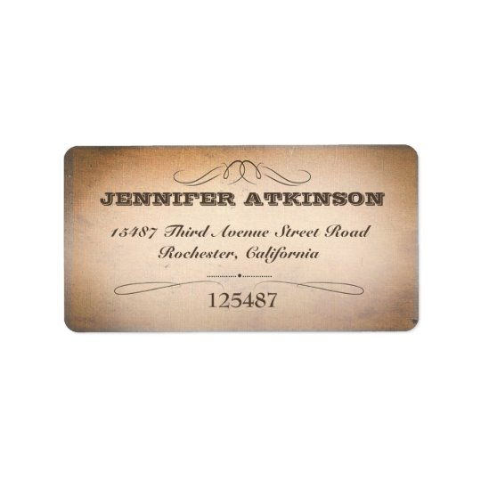 old vintage typography style address labels