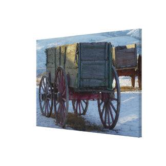 Old wagon canvas print