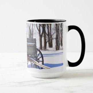 Old wagon coffee mug