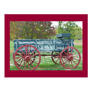 Old Wagon in the Fall Postcard