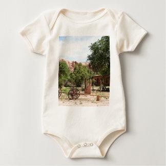 Old wagon, pioneer village, Utah 2 Baby Bodysuit