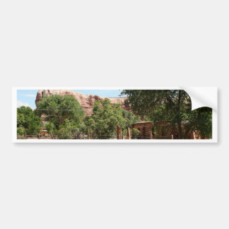 Old wagon, pioneer village, Utah 2 Bumper Sticker