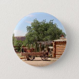Old wagon, pioneer village, Utah 2 Inch Round Button