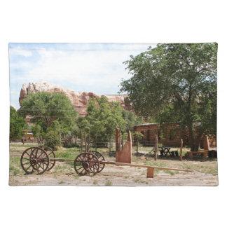 Old wagon, pioneer village, Utah 2 Placemat