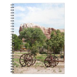 Old wagon, pioneer village, Utah 2 Spiral Notebook