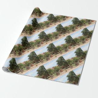 Old wagon, pioneer village, Utah 2 Wrapping Paper