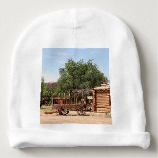 Old wagon, pioneer village, Utah Baby Beanie