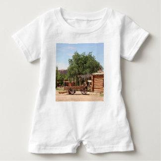 Old wagon, pioneer village, Utah Baby Romper