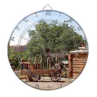 Old wagon, pioneer village, Utah Dartboard