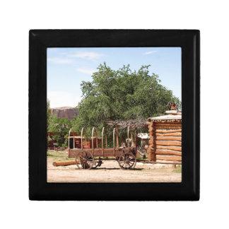 Old wagon, pioneer village, Utah Gift Box