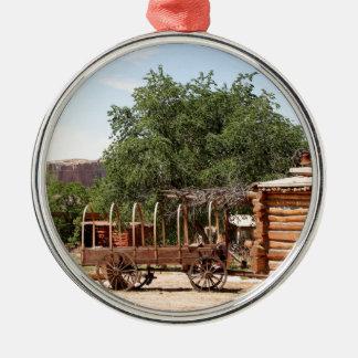 Old wagon, pioneer village, Utah Metal Ornament